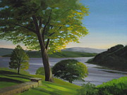 New York State Painting Originals - River Bend by Robert Rohrich