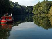 Blackstone River Prints - River Boat Print by Barry Doherty