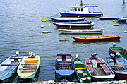 Fishermen Prints - River boats on Danube Print by Elena Elisseeva