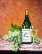 Chardonnay Posters - River Breeze Poster by Brett McGrath