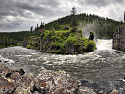 Idaho Photos - River Course by Leland Howard