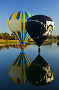 Hot Air Balloon Photos - River Dance by Mike  Dawson
