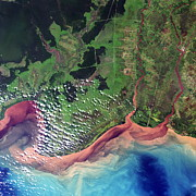 Delta Photos - River Deltas In Borneo by Planetobserver