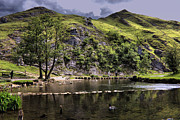Stepping Stones Framed Prints - River Dove at Dovedale Framed Print by Darren Burroughs