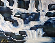 Combine Paintings - River Falls by Kammy Hodges
