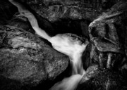 Black And White Landscape Photograph Posters - River Flow Poster by Bob Orsillo