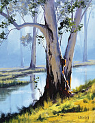 Eucalyptus Paintings - River Gum by Graham Gercken