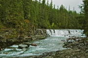 Montana Landscape Photos - River in Glacier National by Michael Peychich