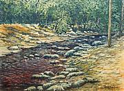 Smoky Mountains Paintings - River in the Mountains by Todd A Blanchard