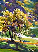 Therese Fowler-bailey Art - River Island Lone Oak by Therese Fowler-Bailey