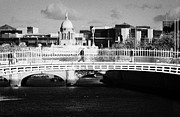 Repaired Photo Prints - River Liffey Dublin City Center Print by Joe Fox