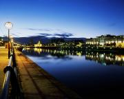 The Pathway Photos - River Liffey, Sunset, View Of Customs by The Irish Image Collection