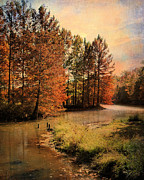 Autumn Landscape Prints - River of Hope Print by Jai Johnson
