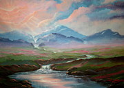 Landscaping Paintings - River of Life by Sallie Reid Carter