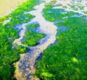 Mosaic Prints - River Print by Roberto Alamino
