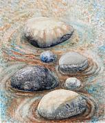 Valerie Meotti Art - River Rock 2 by Valerie Meotti