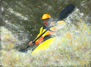 White River Pastels Prints - River Runner Print by Garry McMichael