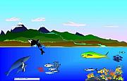 Orca Digital Art - River Runs From Mountain To Sea  Paiges Book Of Fishes by Bryce Meyer