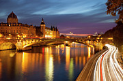 Ile De La Cite Art - River Seine and the Concierge by Brian Jannsen