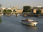 Churches Posters - River Seine in Paris Poster by Bernard Jaubert