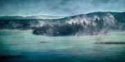 Mountain View Landscape Art - River Song by Priska Wettstein