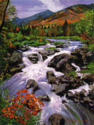 Most Popular Paintings - RIver Sounds by David Lloyd Glover