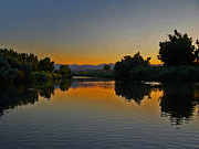 Colorado Art - River Sunset by Ernie Echols