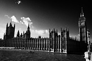 Palace Of Westminster Prints - river thames police security boat palace of westminster houses of parliament buildings London Print by Joe Fox
