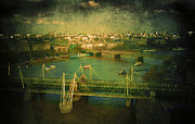 European Capital Digital Art Metal Prints - River Thames  Metal Print by Svetlana Sewell