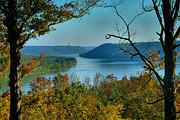 Fall Cards Prints - River View I Print by Steven Ainsworth