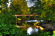 North Carolina Mountains Posters - River Walk Bridge Poster by Greg and Chrystal Mimbs