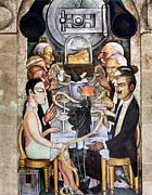 Diego Rivera Framed Prints - Rivera: Banquet, 1928 Framed Print by Granger