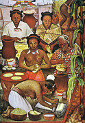 Diego Rivera Framed Prints - Rivera: Grinding Corn Framed Print by Granger