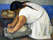 Housework Prints - Rivera: La Molendera, 1924 Print by Granger