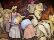 Diego Rivera Framed Prints - RIVERA: MURAL, 1920s Framed Print by Granger