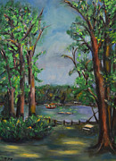 Greens Framed Prints Metal Prints - Riverbend Park Metal Print by Karen Francis