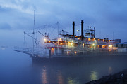 Southern Living Photos - Riverboat at Night by Jeremy Woodhouse