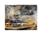 Row Boat Digital Art Prints - Riverboat Print by Bob Salo