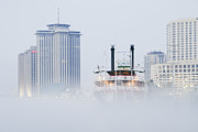 Office Space Prints - Riverboat in the Fog at Day Print by Jeremy Woodhouse