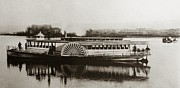 Pa Framed Prints - Riverboat  Mayflower of Plymouth   Susquehanna River near Wilkes Barre Pennsylvania late 1800s Framed Print by Arthur Miller