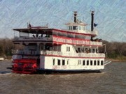 Riverboat Prints - Riverboat Queen - Digital Art Print by Al Powell Photography USA
