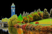 Riverfront Park Digital Art Prints - Riverfront Park in Spokane Print by Ben Upham