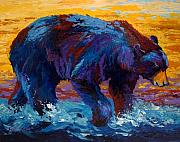 Wild Animals Paintings - Rivers Edge II by Marion Rose