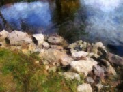 Impressionism Digital Art Prints - Rivers Edge Print by RC DeWinter