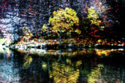 Riverscape - Early Autumn Prints - Riverside Print by Andrea Barbieri