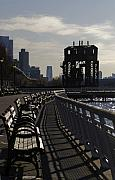 Park Benches Framed Prints - Riverside Park NYC Framed Print by Henri Irizarri