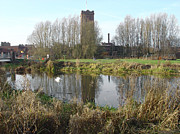 Riverside Walk - Burton On Trent Print by Rod Johnson