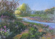 Pastel Study Pastels - Riverwalk by Bill Puglisi