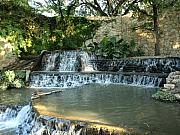 Riverwalk Prints - Riverwalk Waterfall Print by Dennis Stein