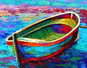 Wooden Painting Metal Prints - Riviera Boat I Metal Print by Marion Rose